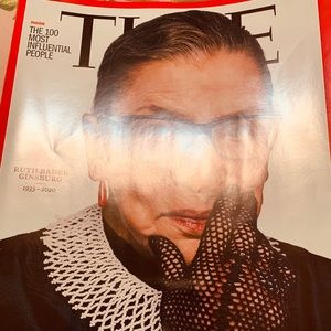 Time magazine RBG new unread coffee table collect